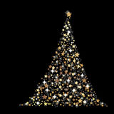 The Abstract Christmas Tree Stock Images