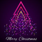 Abstract christmas tree. Vector illustration Stock Images