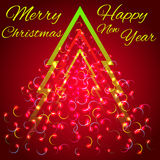 Abstract christmas tree. Vector illustration Royalty Free Stock Images