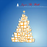 Abstract Christmas Tree. Royalty Free Stock Photo