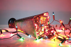 Abstract Christmas tree. Vegetable grater Royalty Free Stock Photo