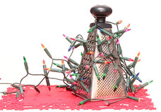 Abstract Christmas tree. Vegetable grater Stock Image