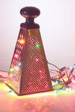 Abstract Christmas tree. Vegetable grater Stock Images
