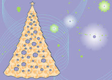 Abstract Christmas Tree on a whimsical background Royalty Free Stock Photography