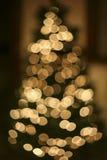 Abstract Christmas tree. Whit shiny lights Stock Image