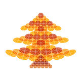 Abstract Christmas tree. On a white background Stock Photos