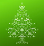 Abstract Christmas tree. Royalty Free Stock Photography
