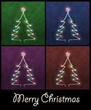 Abstract christmas trees Stock Images