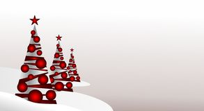 Abstract christmas trees Royalty Free Stock Image