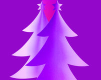 Paper Christmas trees Royalty Free Stock Images