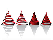Abstract Christmas Trees Stock Photography
