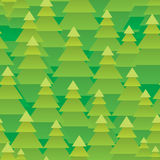 Abstract Christmas trees forest seamless pattern Royalty Free Stock Image