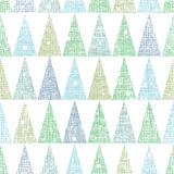 Abstract Christmas trees forest in snow seamless Stock Photos