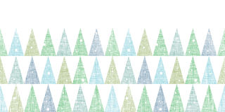 Abstract Christmas trees forest in snow Stock Images