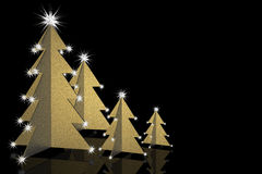 Abstract Christmas Trees gold Stock Image