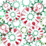 Abstract christmas trees pattern Royalty Free Stock Photography