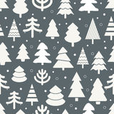 Abstract Christmas Trees Seamless Background Stock Photography