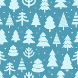 Abstract christmas trees seamless background Royalty Free Stock Photo