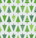 Abstract christmas trees seamless background Royalty Free Stock Images