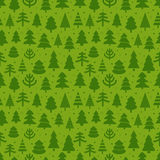 Abstract christmas trees seamless background Royalty Free Stock Photography