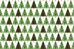 Abstract Christmas trees seamless pattern. Pattern for fabric, web background, etc royalty free illustration