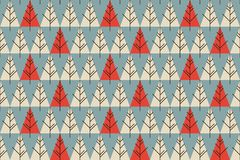 Abstract Christmas trees seamless pattern. Pattern for fabric, web background, etc vector illustration