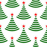 Abstract Christmas trees seamless pattern Royalty Free Stock Photos