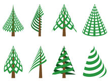 Abstract christmas trees Royalty Free Stock Photos