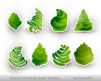 Abstract Christmas Trees | Stickers Stock Images