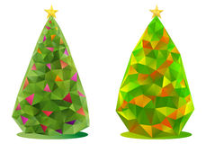 Abstract christmas trees, vector Royalty Free Stock Image