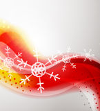 Abstract Christmas wavy line background Royalty Free Stock Photography