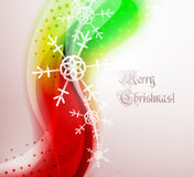 Abstract Christmas wavy line background Stock Photography