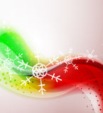 Abstract Christmas wavy line background Stock Images