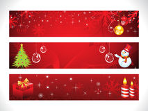 Abstract christmas web banner template Royalty Free Stock Photography