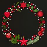 Abstract Christmas Wreath Garland royalty free stock photo
