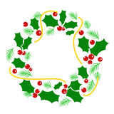 Abstract Christmas wreath Stock Photo