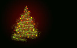 Abstract christmass tree. On a black background Royalty Free Stock Image