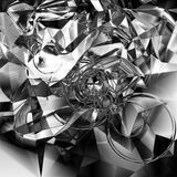 Abstract Chrome Background. Abstract background resembling broken glass pieces royalty free stock image