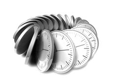 Abstract chrome clock Stock Image