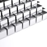 Abstract chrome cubes on white background Stock Images