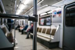 Abstract chrome handrails stock images
