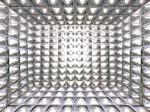 Abstract chrome pattern Stock Photography