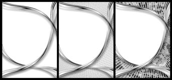 Abstract chrome and silver backgrounds royalty free illustration