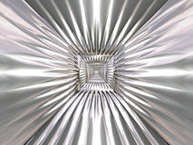 Abstract chrome tracery pattern Stock Photo