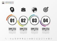 Abstract chronologie infographic malplaatje Vector royalty-vrije illustratie