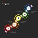 Abstract chronologie infographic malplaatje Vector illustratie vector illustratie