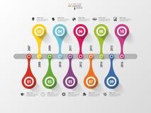 Abstract chronologie infographic malplaatje Vector illustratie stock illustratie