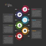 Abstract chronologie infographic malplaatje Vector illustratie Stock Afbeelding