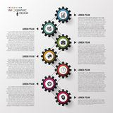Abstract chronologie infographic malplaatje Vector illustratie Stock Foto