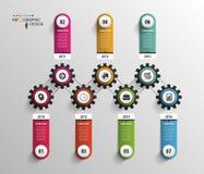 Abstract chronologie infographic malplaatje Vector illustratie royalty-vrije illustratie